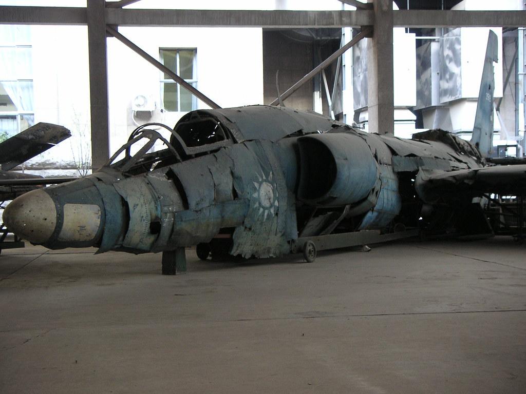 Shotdown U2 wreckage, Beijing Military Museum, China.  PICT0264