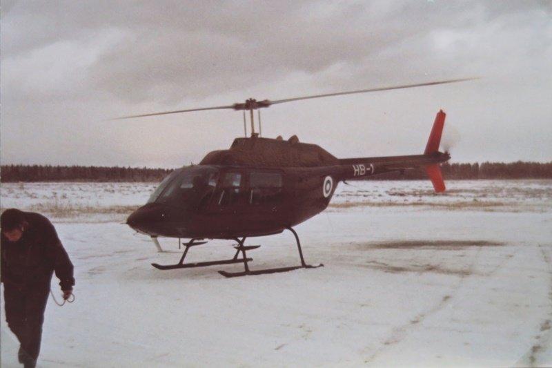 Agusta Bell 206A Jet Ranger, HB-1, Utissa talvella 1970/71