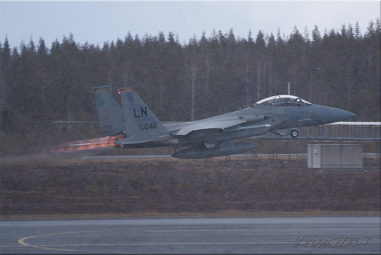 F15 kesäisessä suomen lapissa