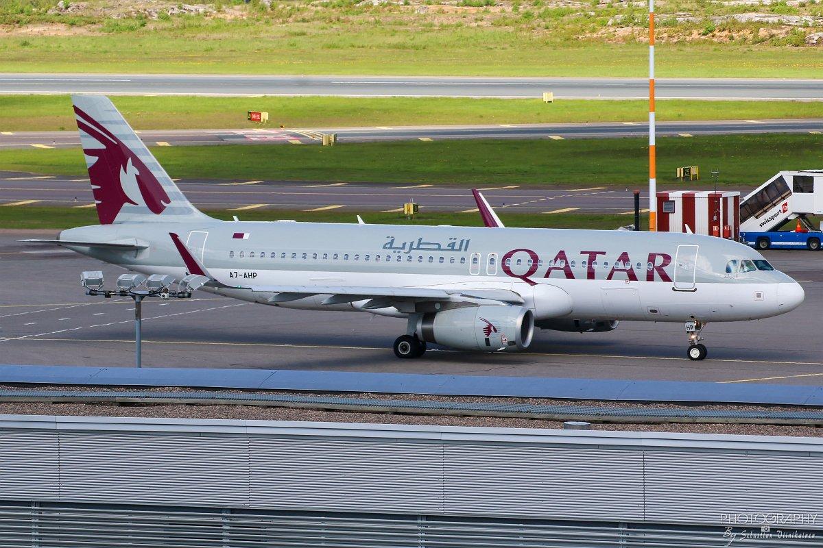 A7-AHP Qatar Airways A320-200 10.06.2017