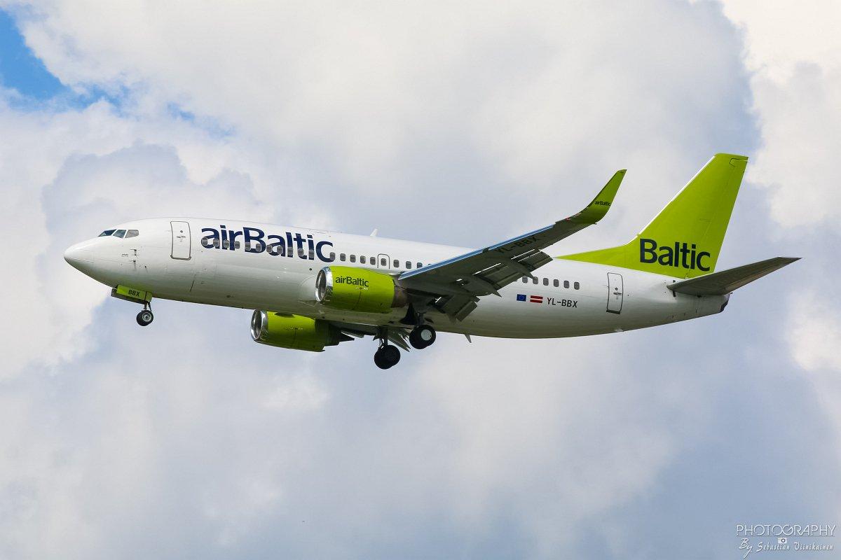 YL-BBX Air Baltic B737-300, 10.06.2017