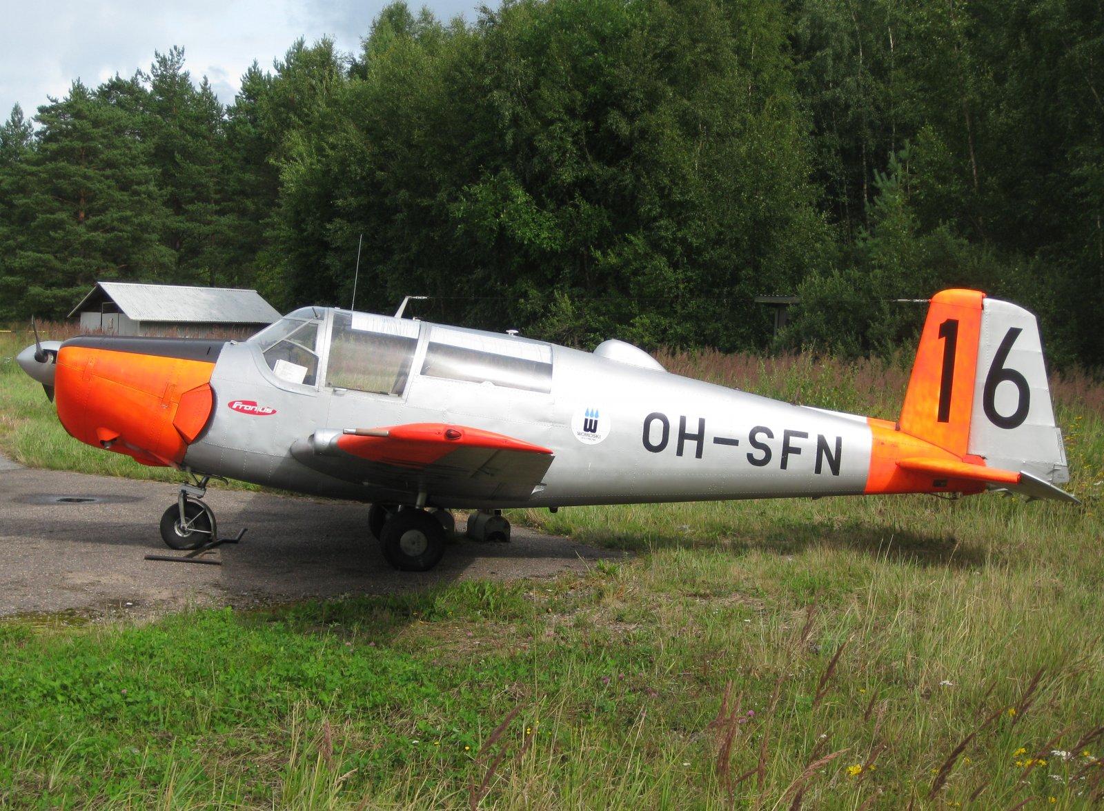 Saab 91D Safir OH-SFN EFHN 2009-08-02