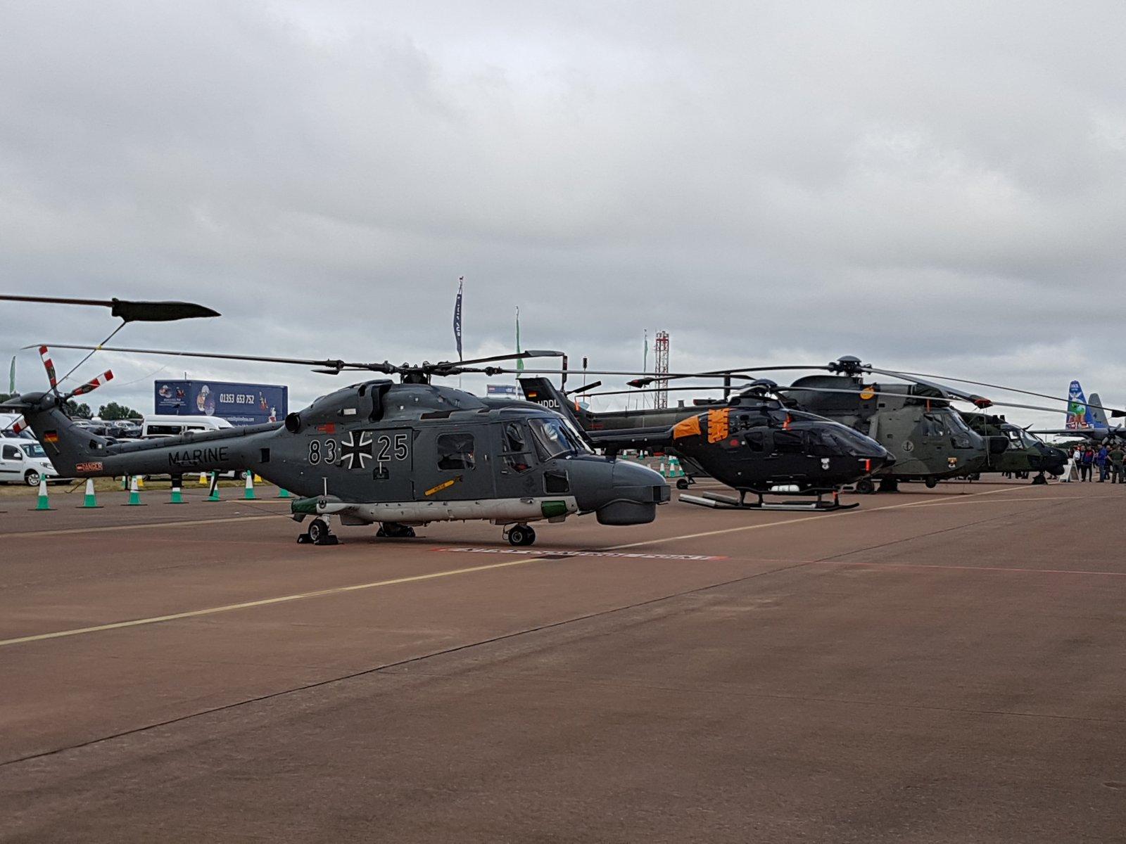 Koptereita, ensimmäisenä Saksan Navyn Westland Lynx Mk88A, 83+25