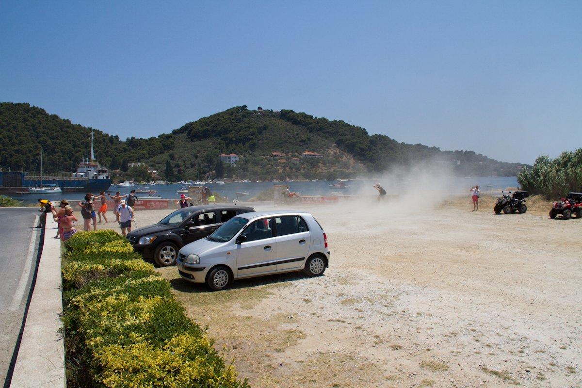 G-OOBC ja hiekka lentää