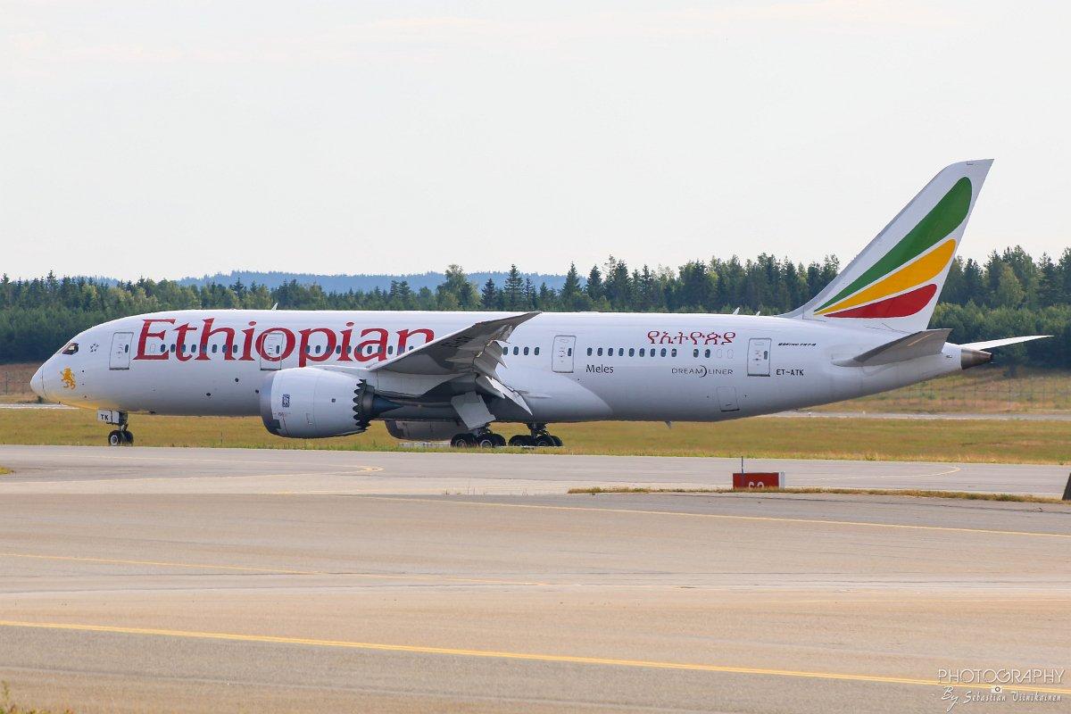 ET-ATK Ethiophian Airlines B787-8 Dreamliner