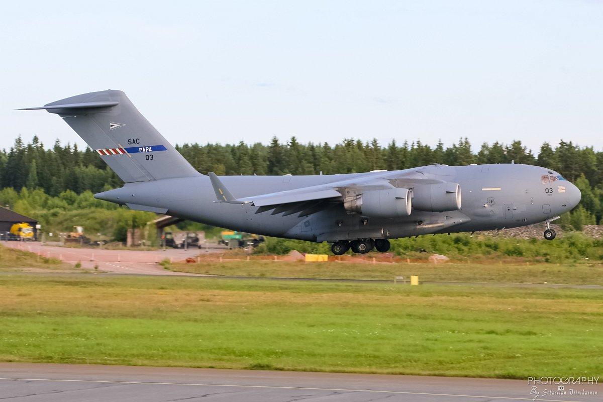 08-0003 NATO Strategic Airlift Capability Boeing C-17A Globemaster III 23.07.2017
