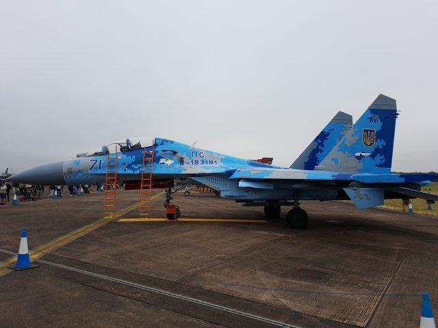 "Ukrainan Suhoi Su-27UB1M, ""71"""