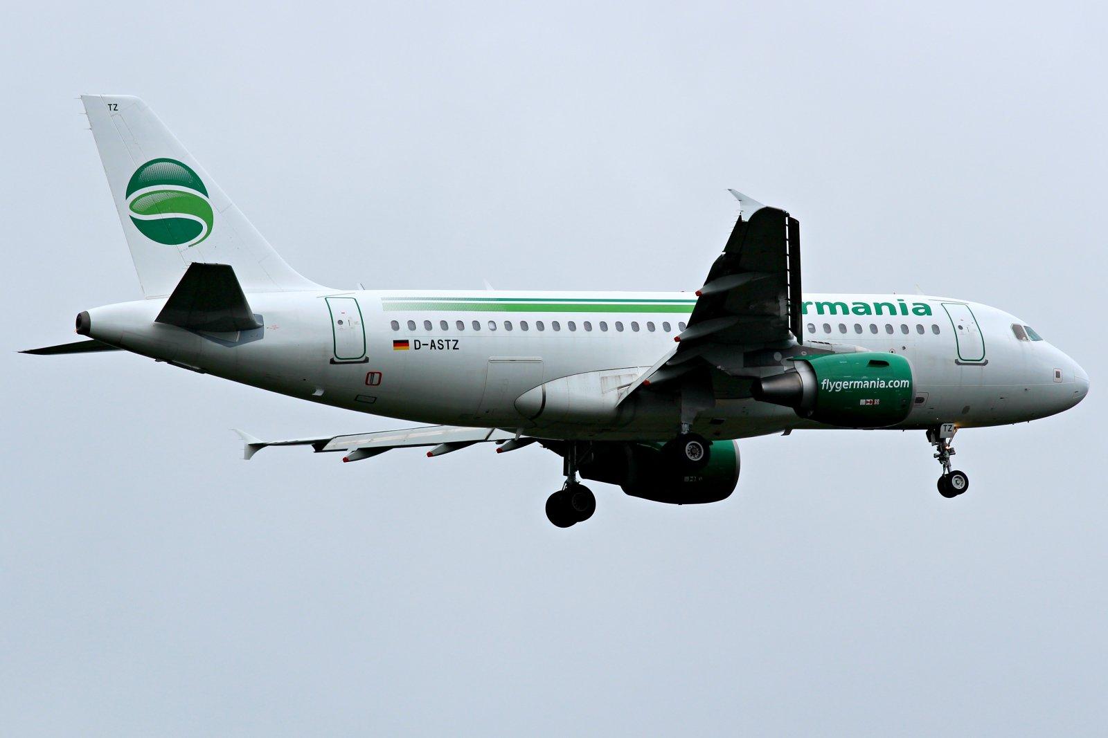 D-ASTZ Germania Airbus A319-112