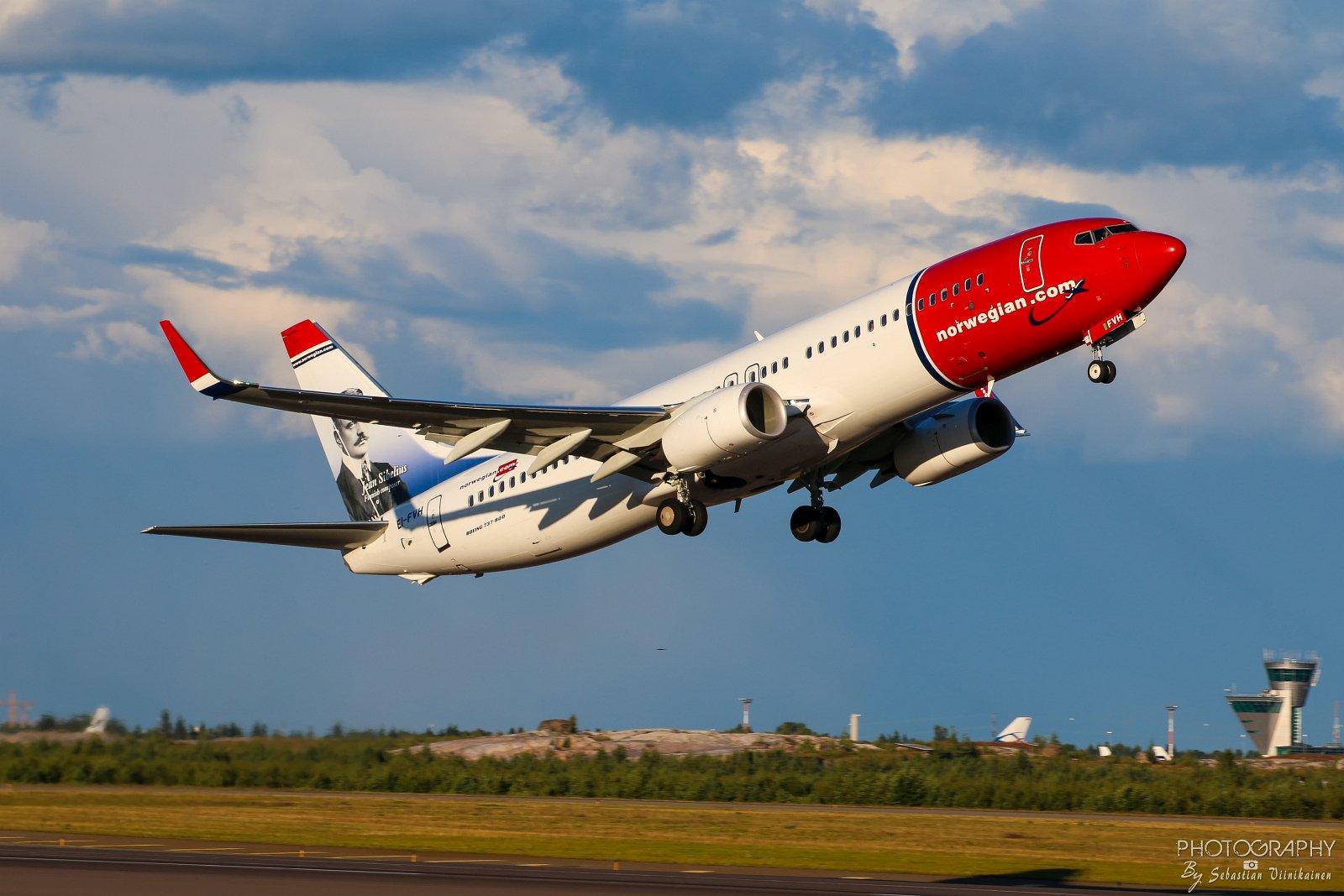 EI-FVH Norwegian Boeing B737-800, 21.07.2017