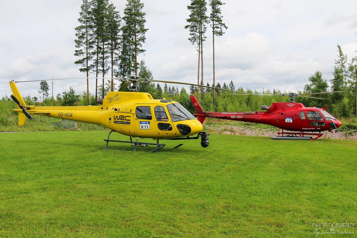OO-HCW (Rallin kuvauskopteri) ja SE-JSD