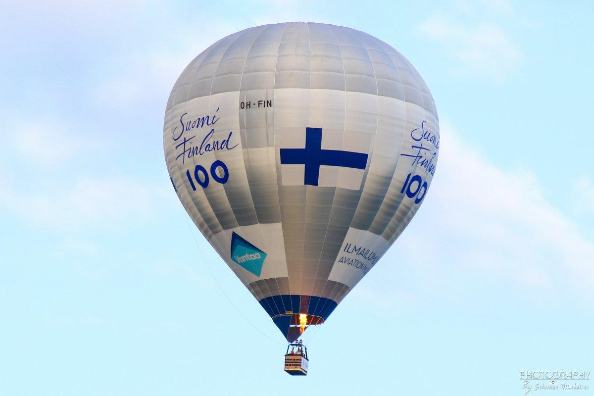 OH-FIN Suomi 100v kuumailmapallo