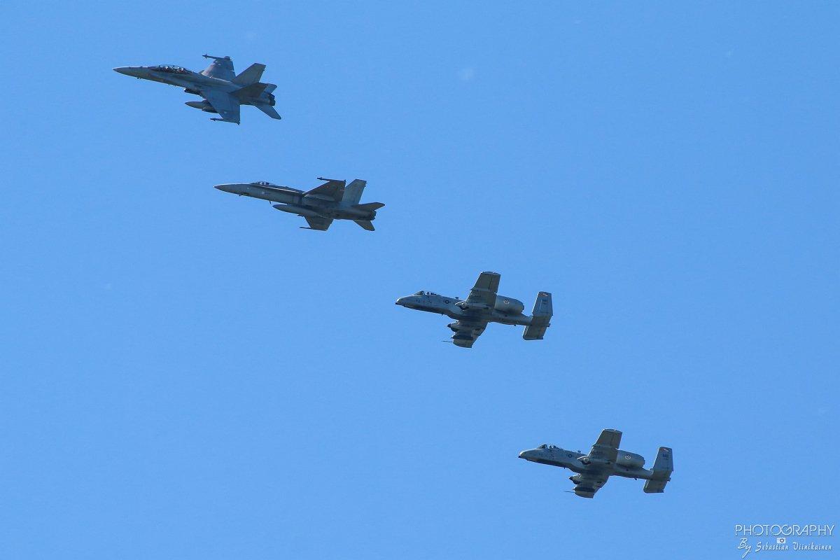 2x Hornet & 2x USAF Fairchild A-10C Thunderbolt II, 15.08.2017