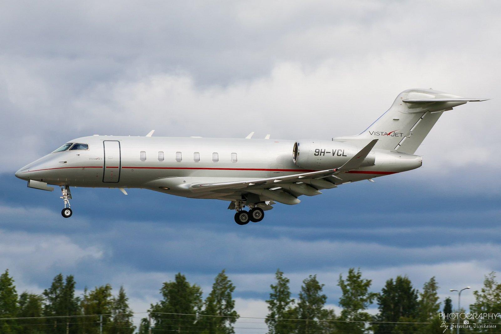 9H-VCL Vistajet Bombardier BD-100-1A10 Challenger 350, 23.08.2017