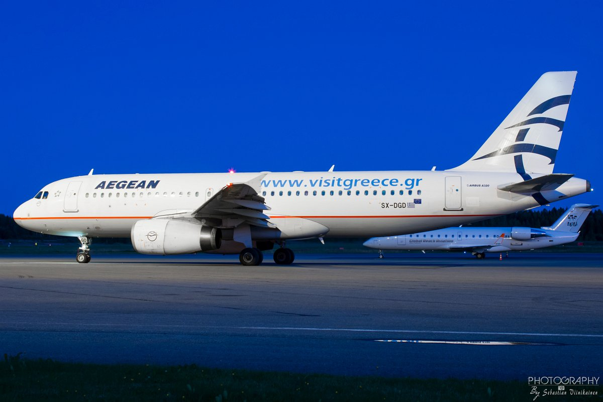 SX-DGD Aegean Airlines A320-200, 1.9.2017