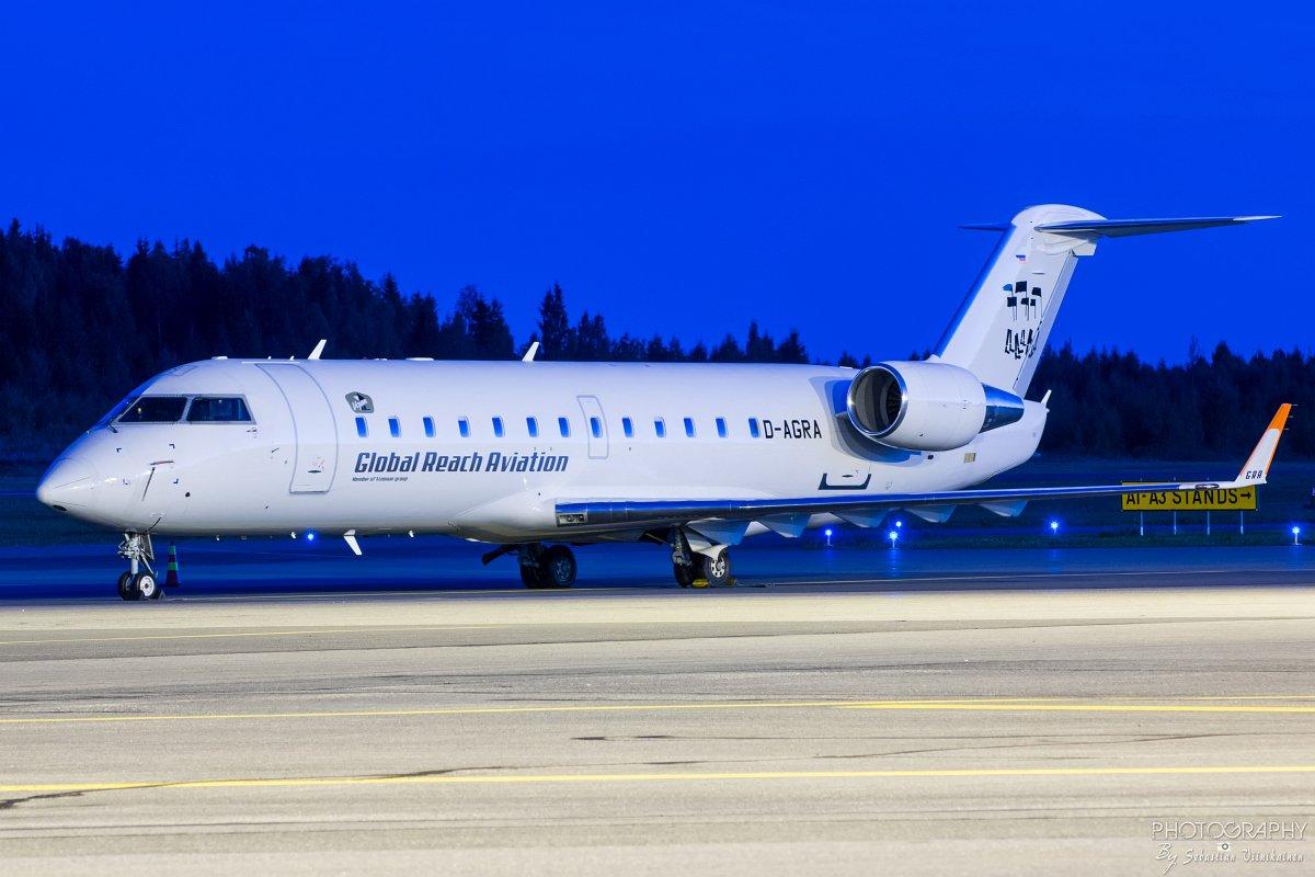 D-AGRA Bombardier CRJ-200LR, 1.9.2017