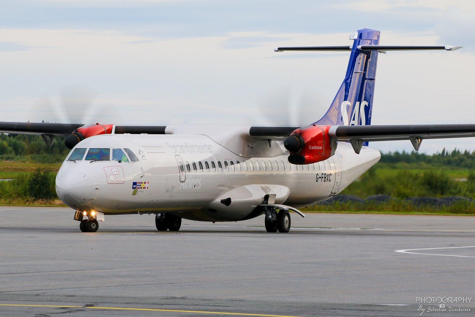 Sassin vuoroa hoiti G-FBXC ATR 72-600