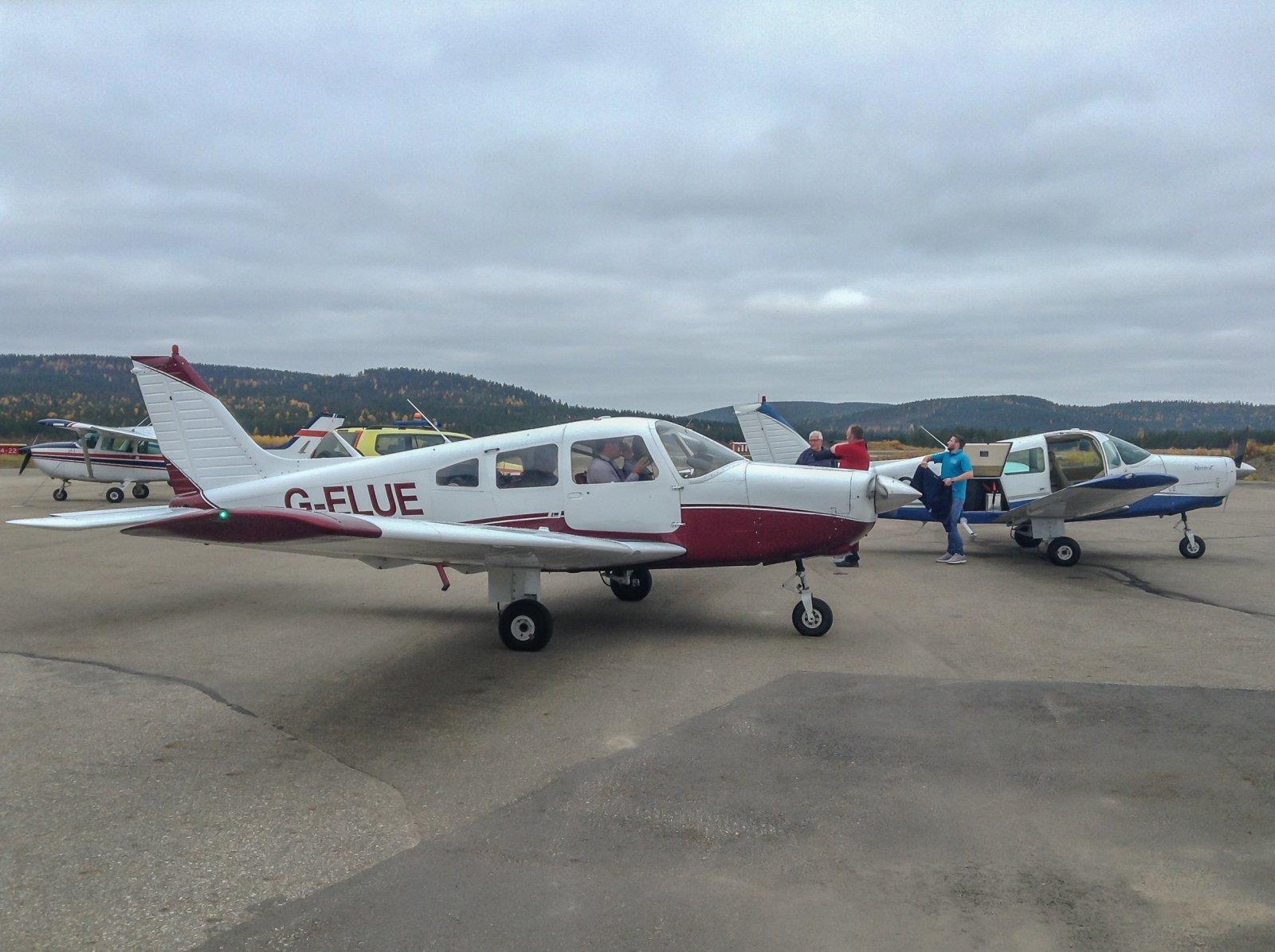 Tulimme SAR lennolta hieman ennen Pipereita.