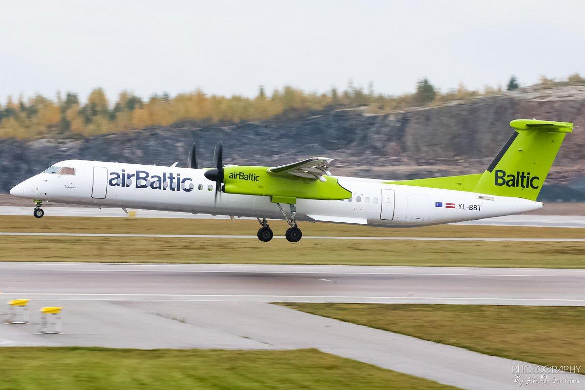 YL-BBT Air Baltic DHC-8-400, 12.10.2017