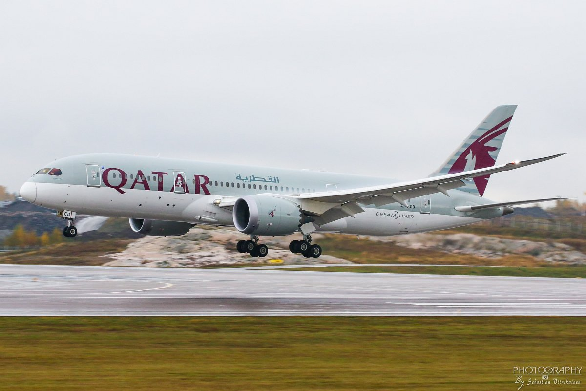 A7-BCD Qatar Airways B787-8 Dreamliner, 12.10.2017
