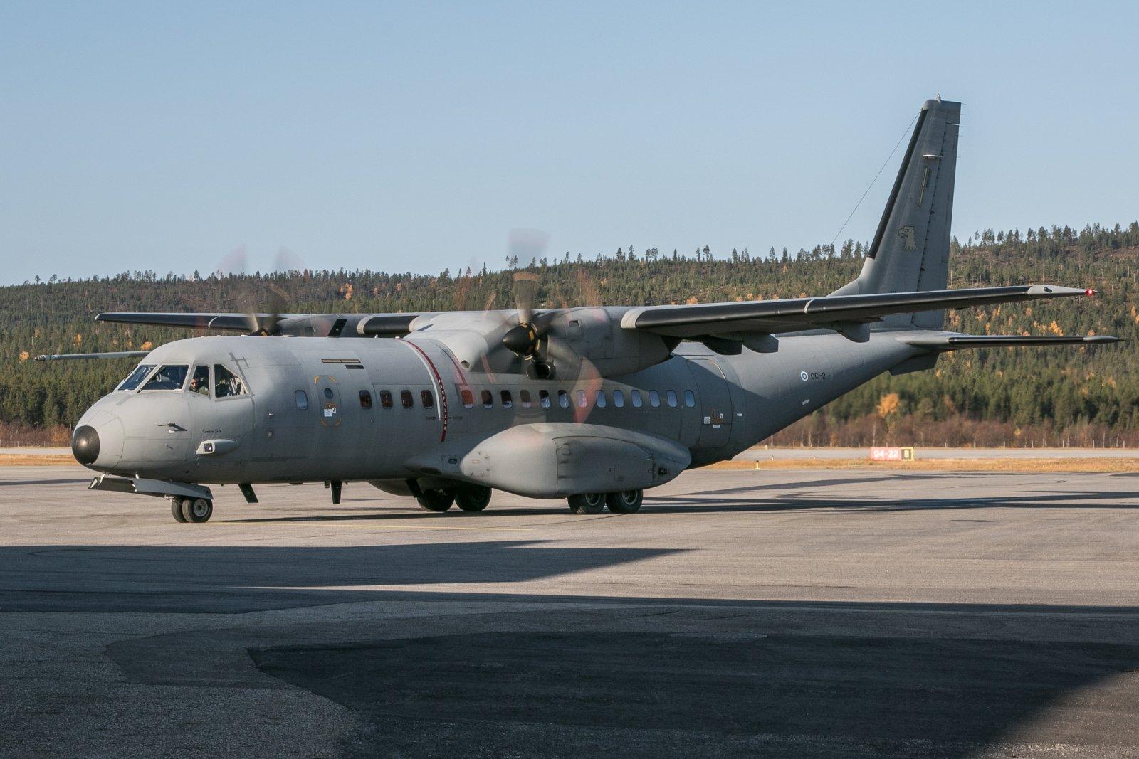 CC-2. Ilmavoimien Casa 1.10 Ivalossa.