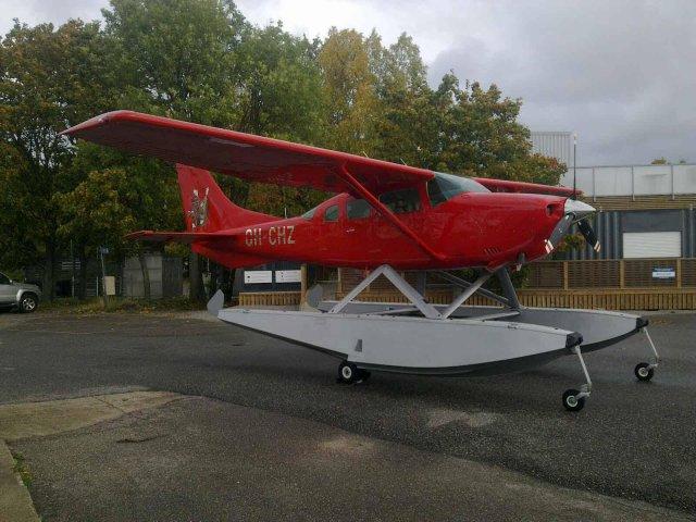 Cessna TU206G Turbo Stationair OH-CHZ Hanko 2017-10-07