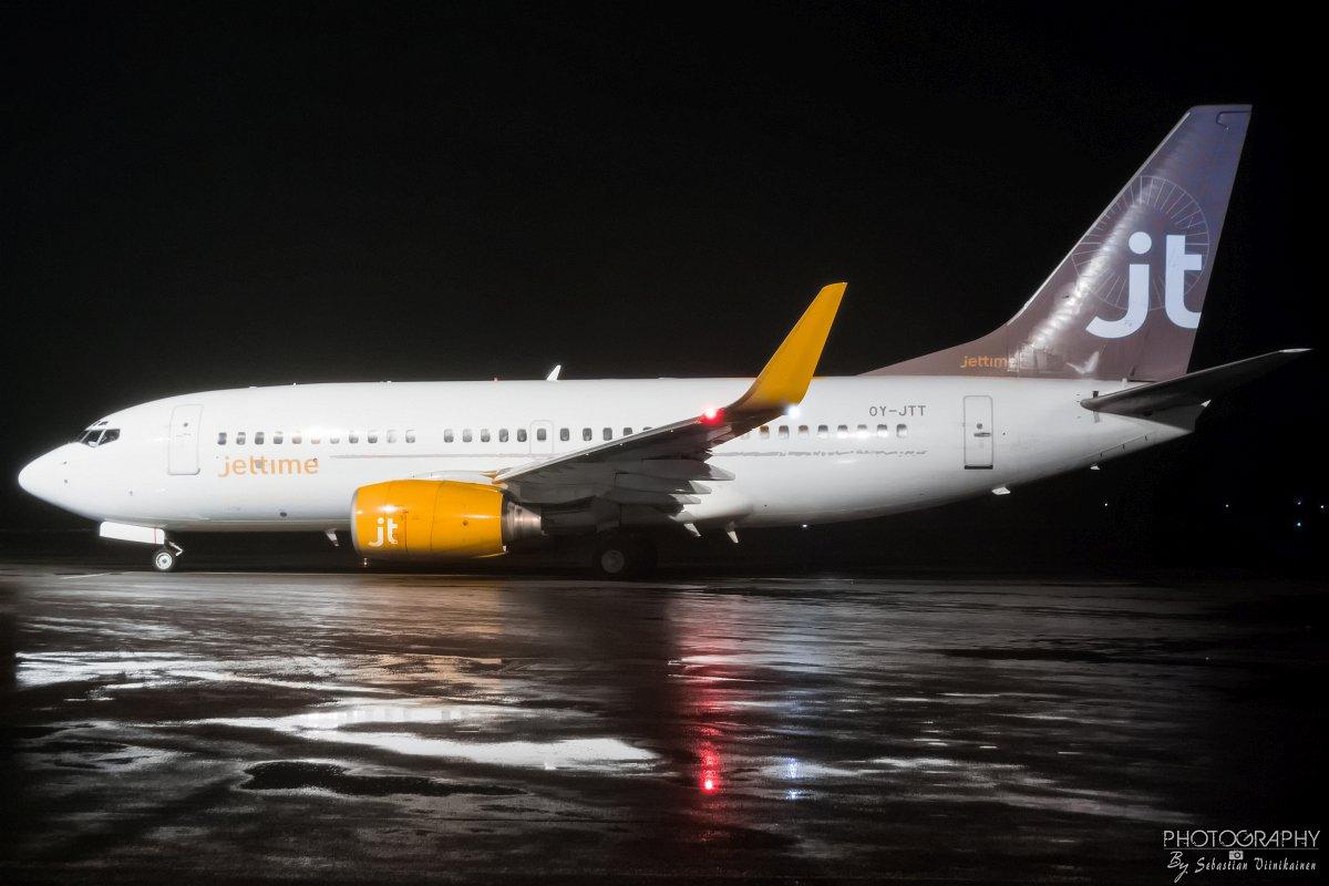 OY-JTT Jettime B737-700, 29.11.2017