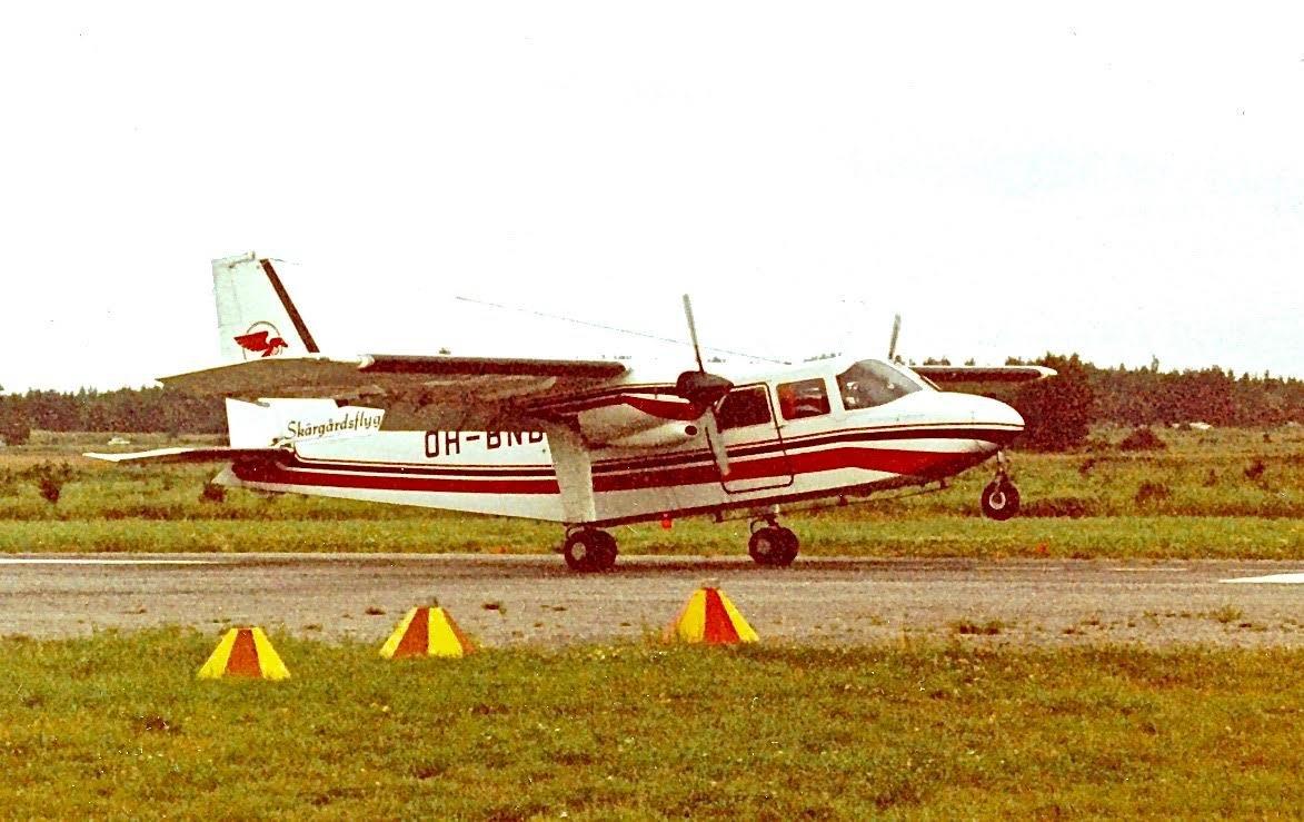 Britten-Norman BN-2A-6 Islander OH-BNB EFHN late 1970s