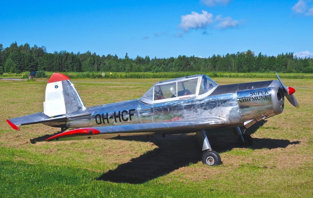 DHC-1 Chipmunk Mk 10 Mod OH-HCF EFHN 2016-07-14