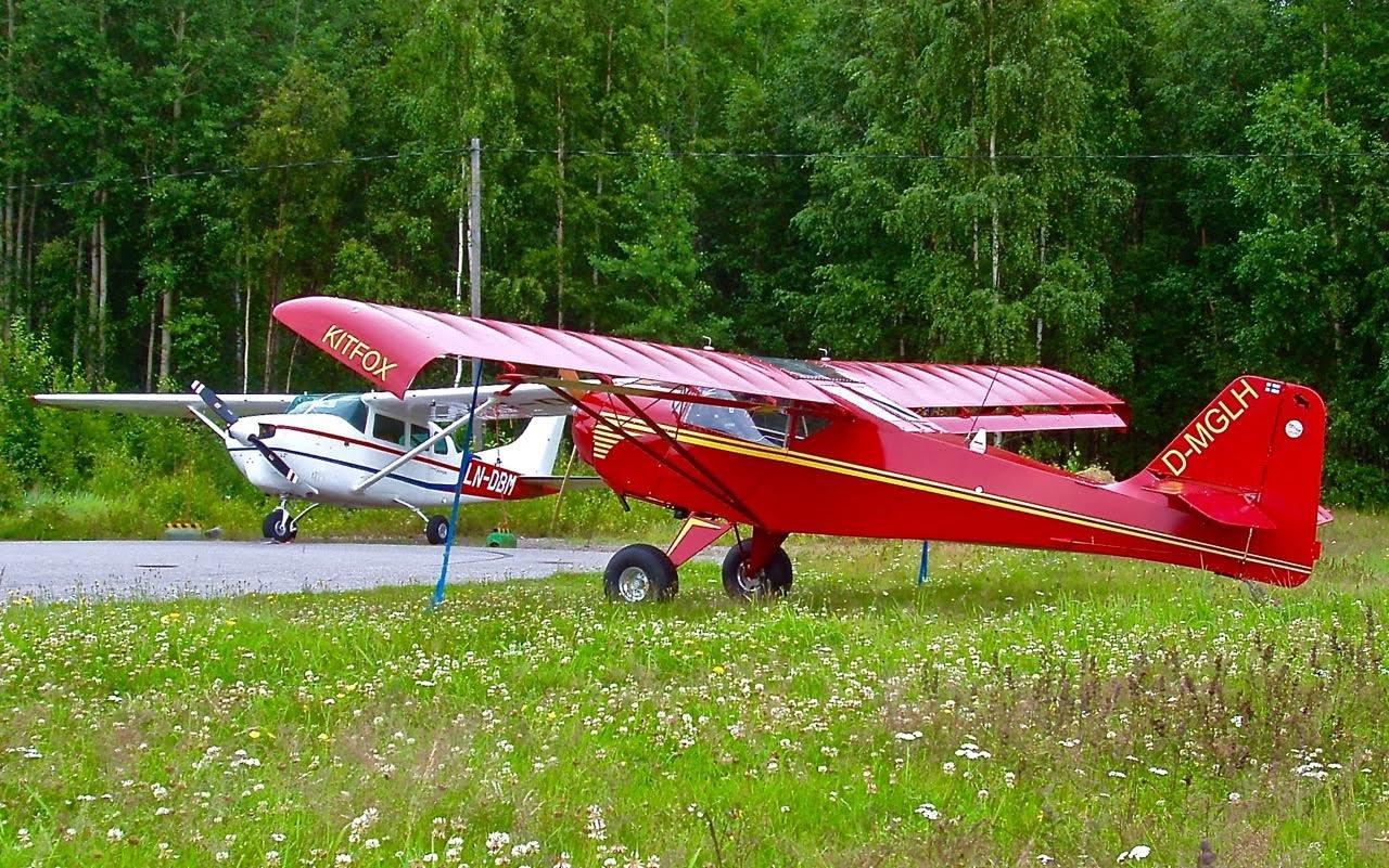 Denney Kitfox 3 D-MGLH & Cessna 206 Super Skywagon LN-DBM EFHN 2014-07-22