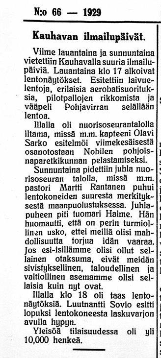 Kristiinan Sanomat 27081927 Sovion hyppy.jpg