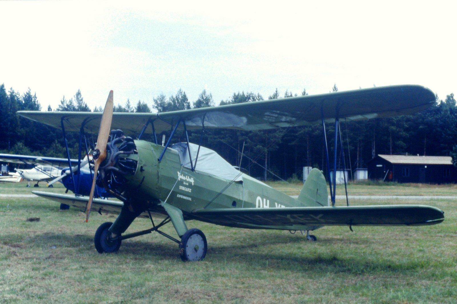 Focke-Wulf FW 44J Stieglitz OH-XEK EFHN 1989