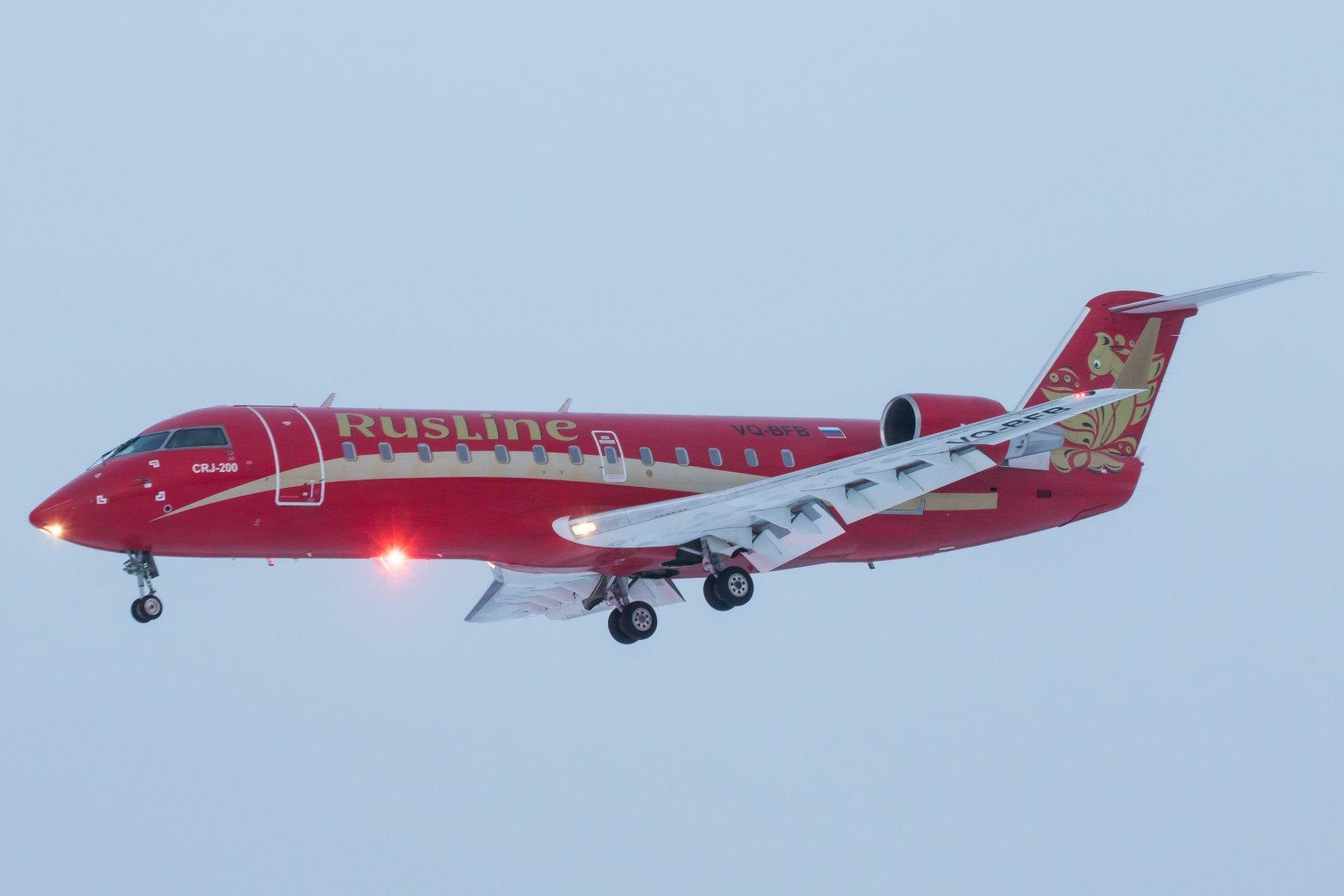 VQ-BFB. Bombardier CRJ-200ER, Moskovasta Ivaloon.