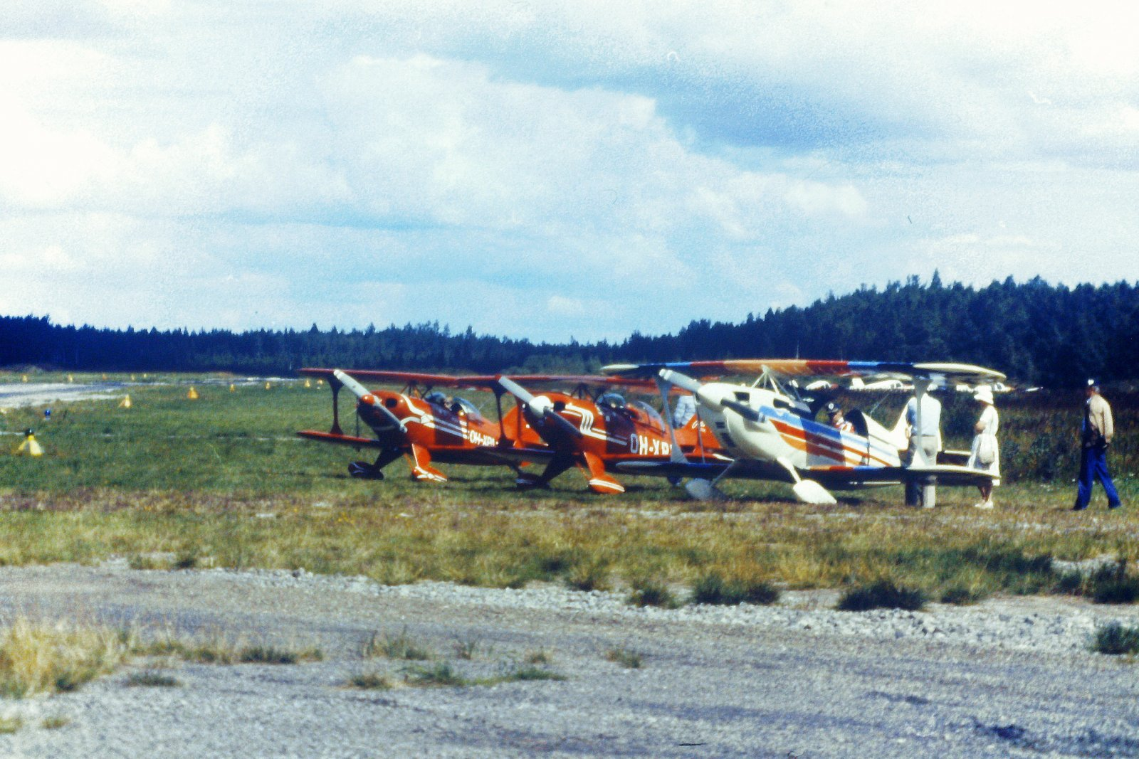 Christen Eagle II OH-XEA, Pitts S-1 Special OH-XPB & Pitts S-1 Special OH-XPA EFHN 1981
