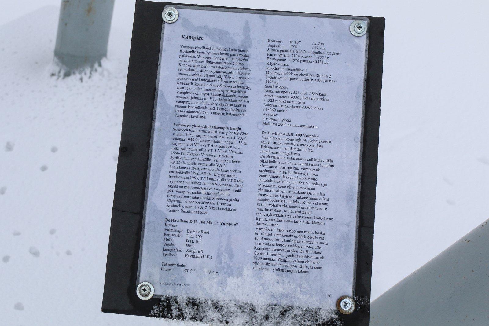 Muistomerkin tekstiä.