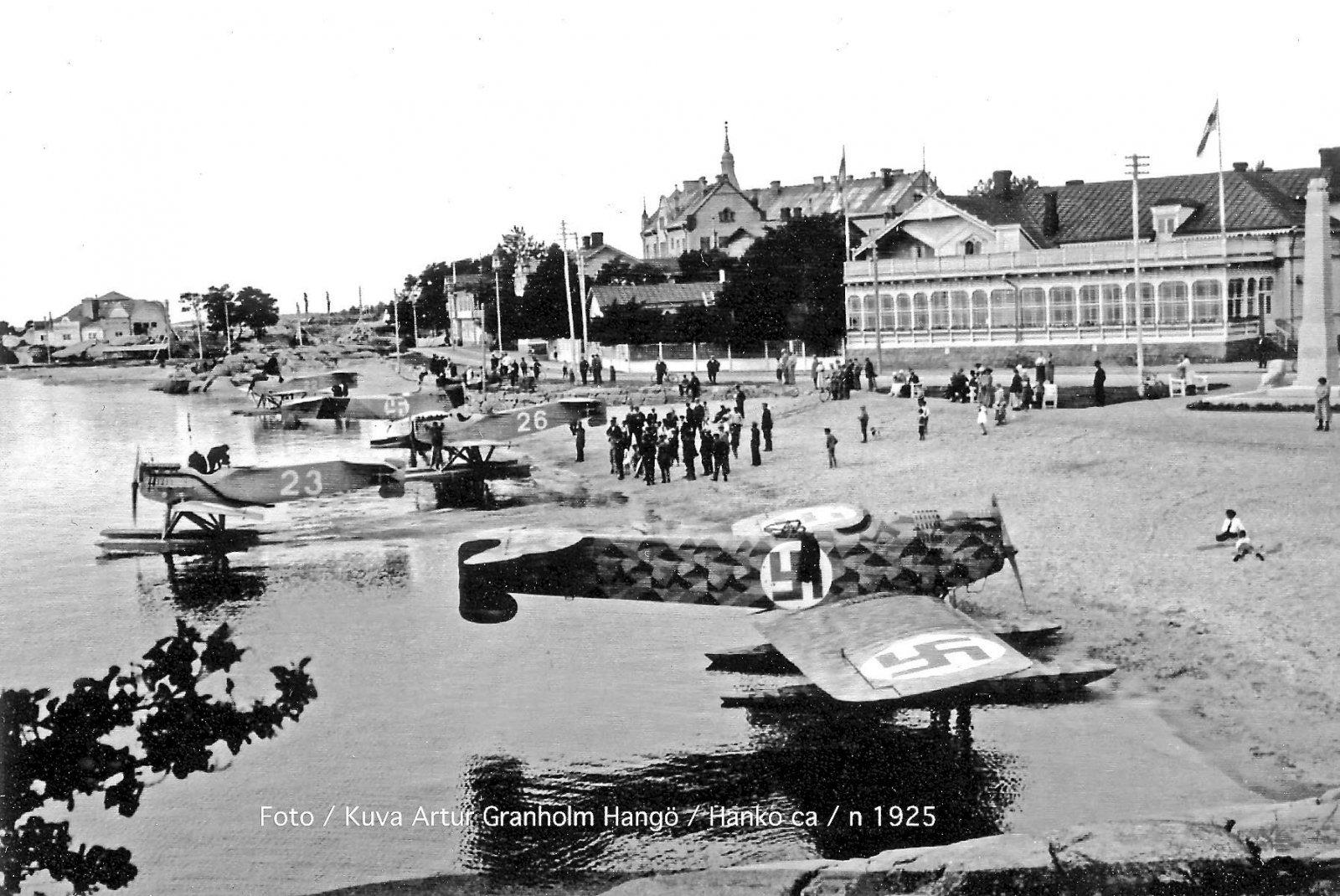 """I.V.L A.22 Hansa 4D2, 4E11 & Danish Navy Hansa Brandenburg W.29 """"22"""", """"23"""" & """"26"""" Hanko 1923-08-18"""