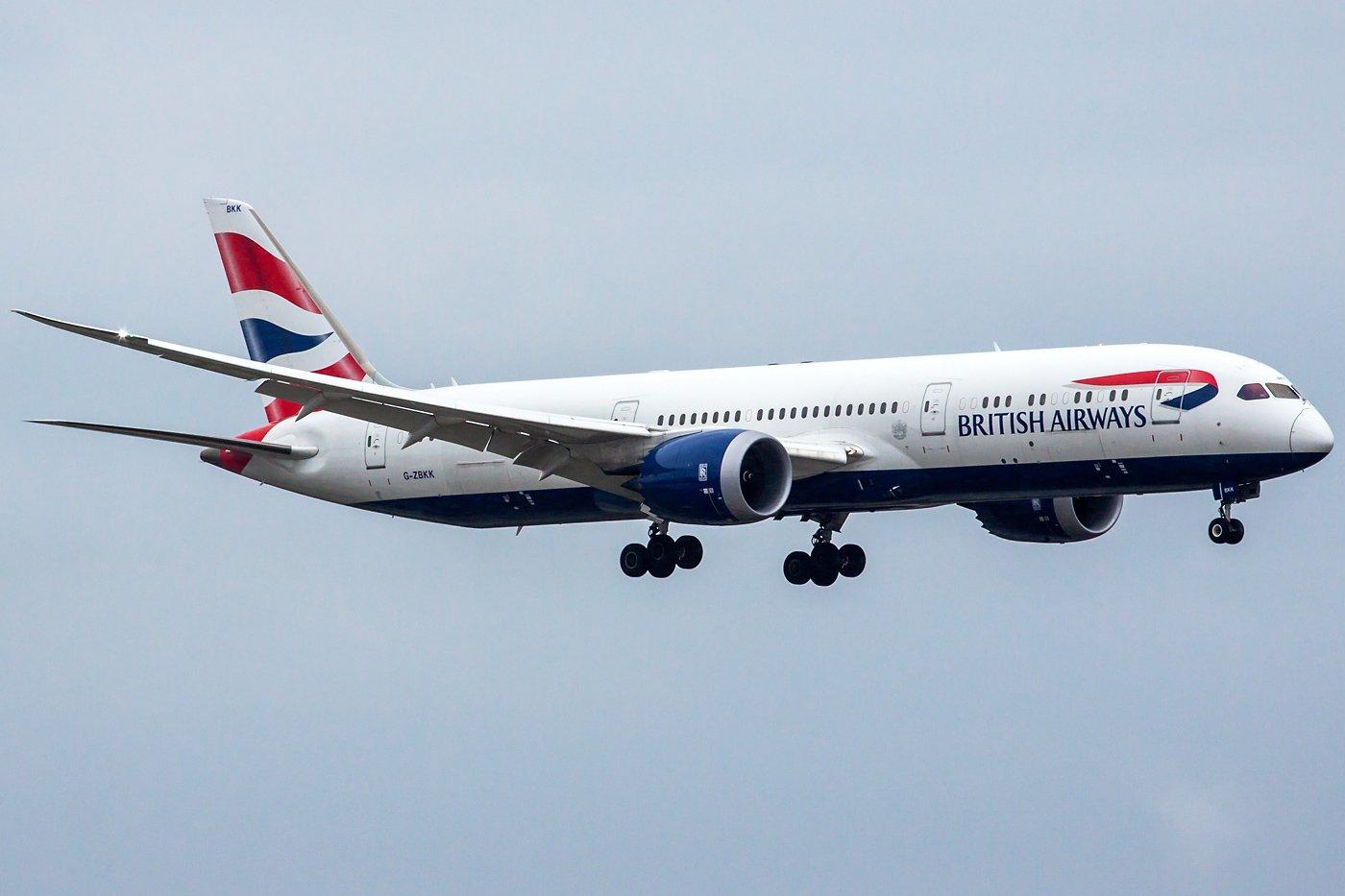 British Airways Boeing 787-9 Dreamliner G-ZBKK