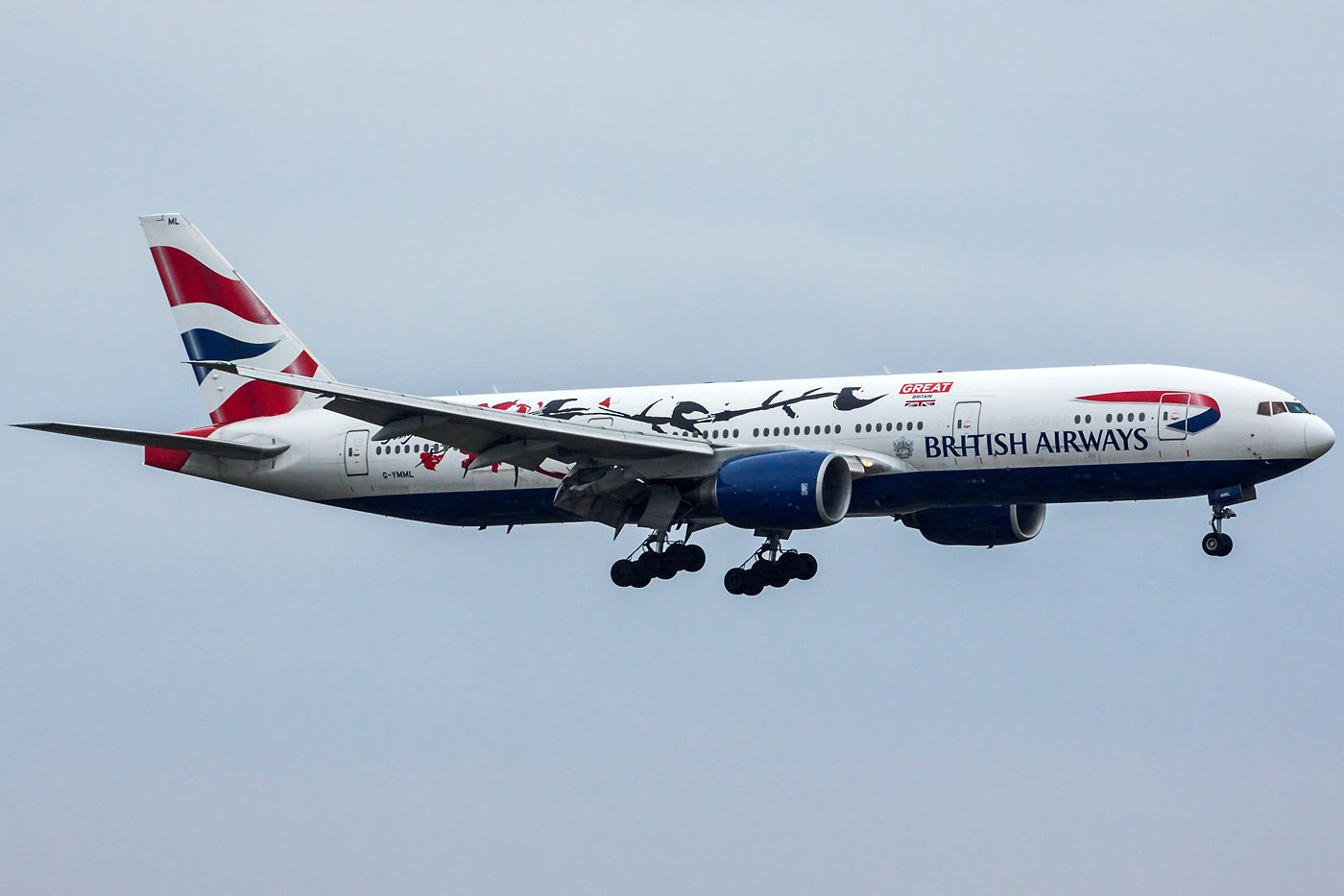 "British Airways Boeing 777-236(ER) G-YMML ""GREAT Festival of Creativity"""