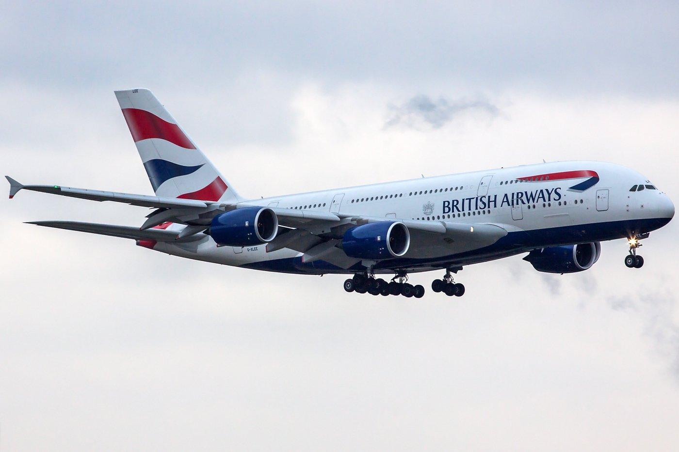 British Airways Airbus A380-841 G-XLEE