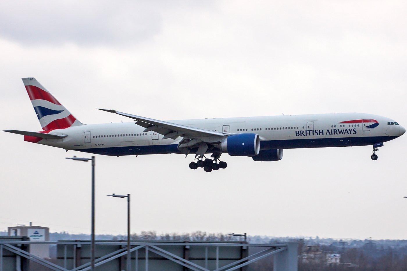 British Airways Boeing 777-36N(ER) G-STBC