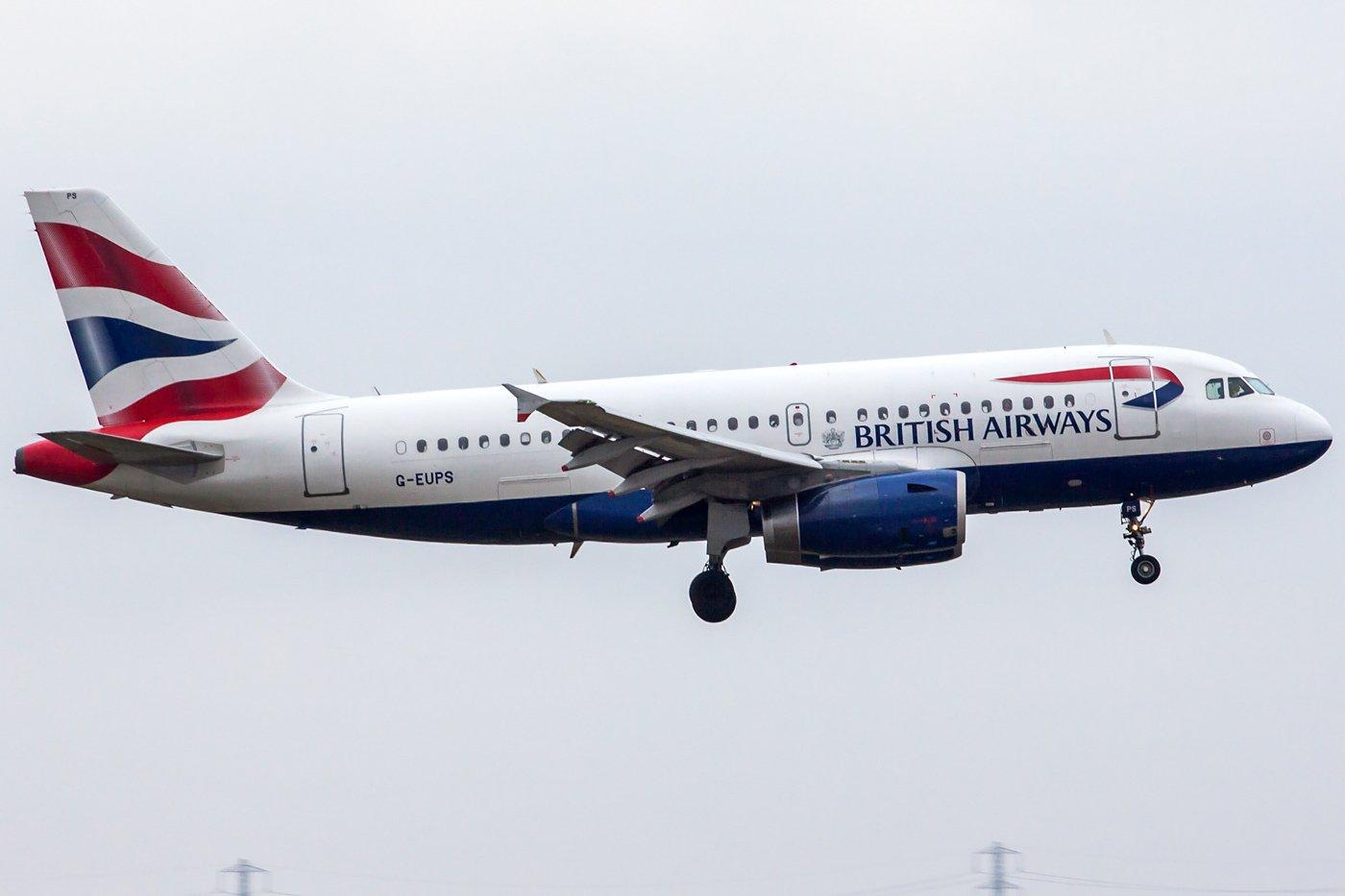 British Airways Airbus A319-131 G-EUPS