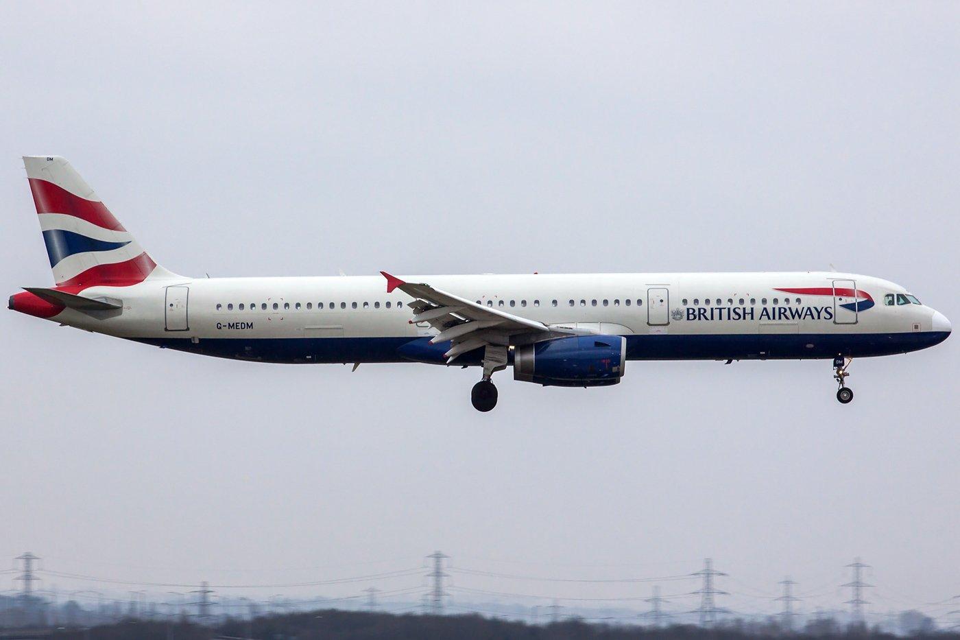 British Airways Airbus A321-231 G-MEDM