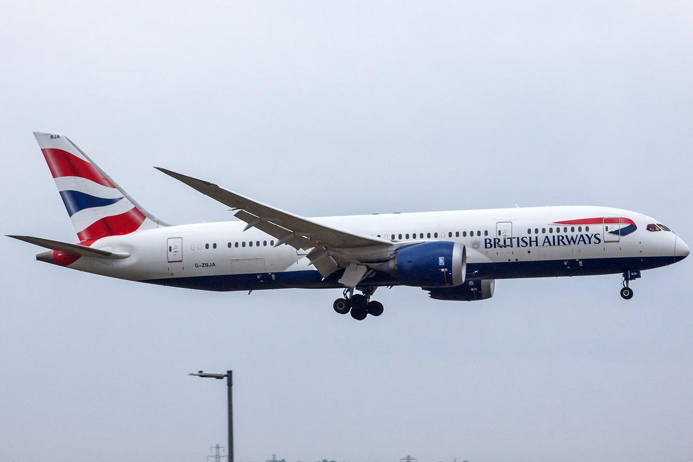 British Airways Boeing 787-8 Dreamliner G-ZBJA