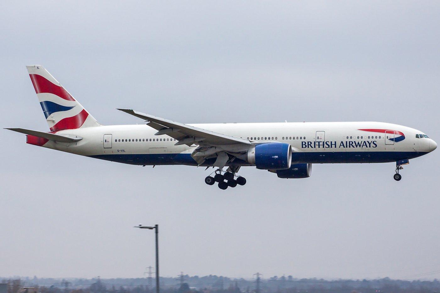 British Airways Boeing 777-236(ER) G-VIIL