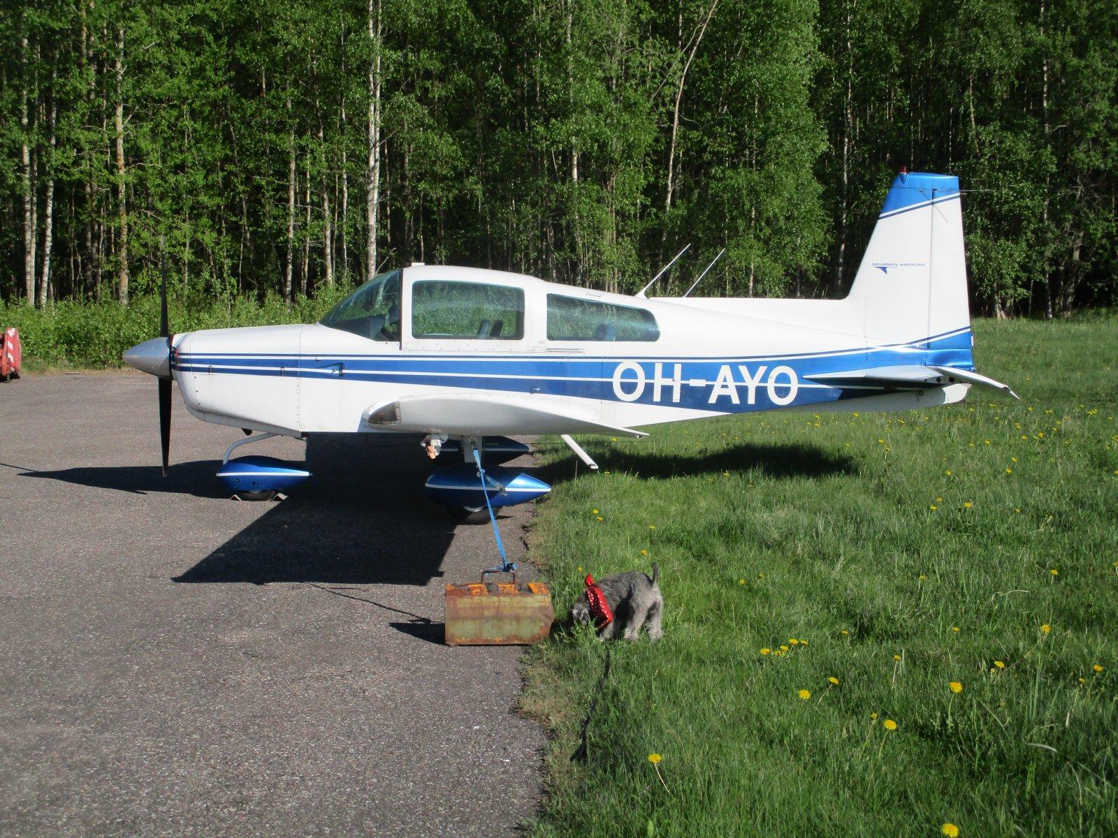 Grumman-American AA-5 Traveler OH-AYO EFHN 2018-05-21