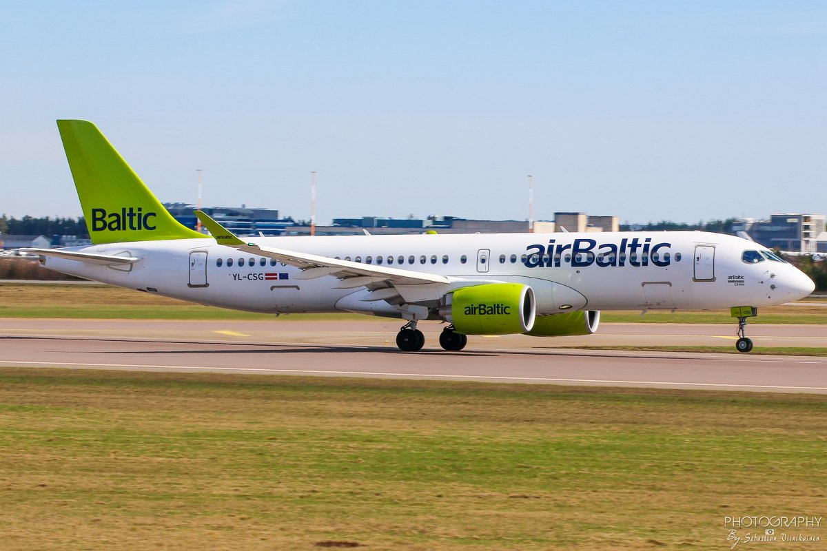 YL-CSG Air Baltic Bombardier CS300, 05.05.2018