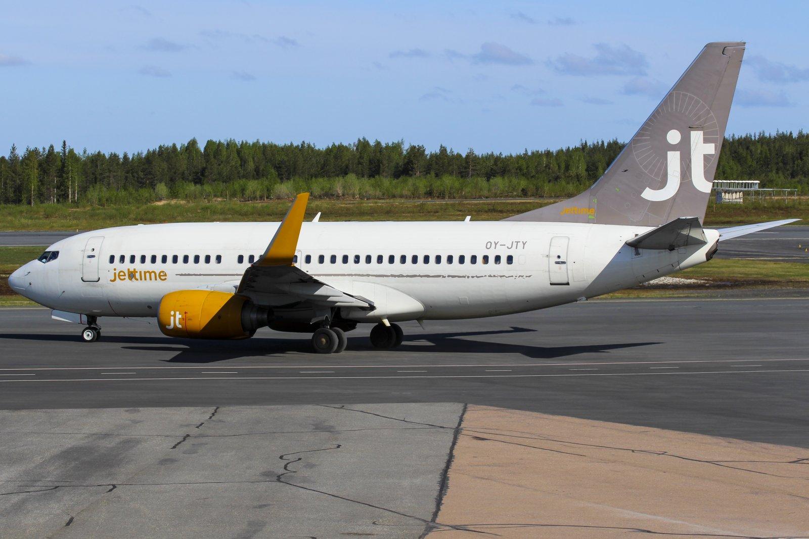 18.5 OY-JTY Lensi Finnairin vuoron Rovaniemelle