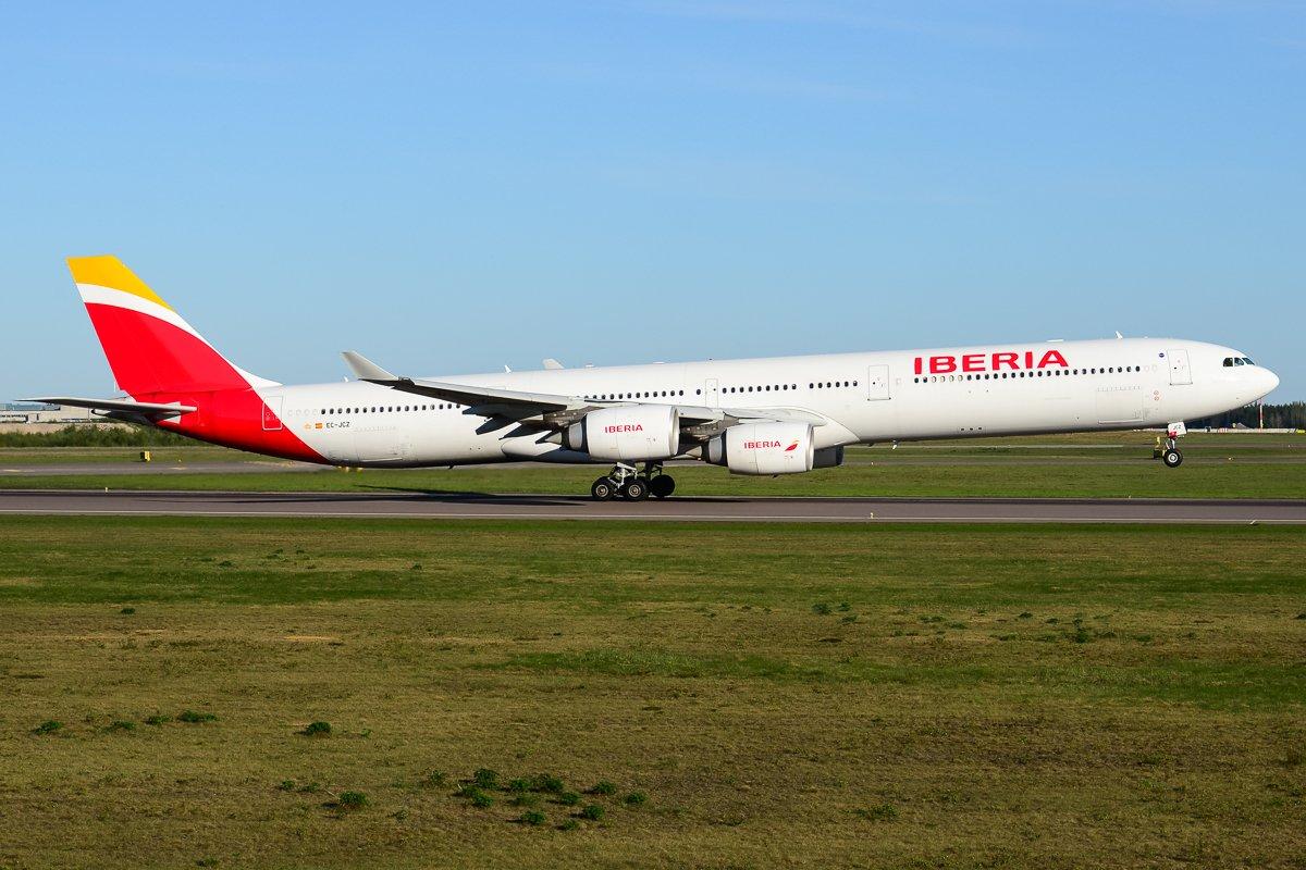 EC-JCZ, Iberia Airbus A340-600, 12.5.2018