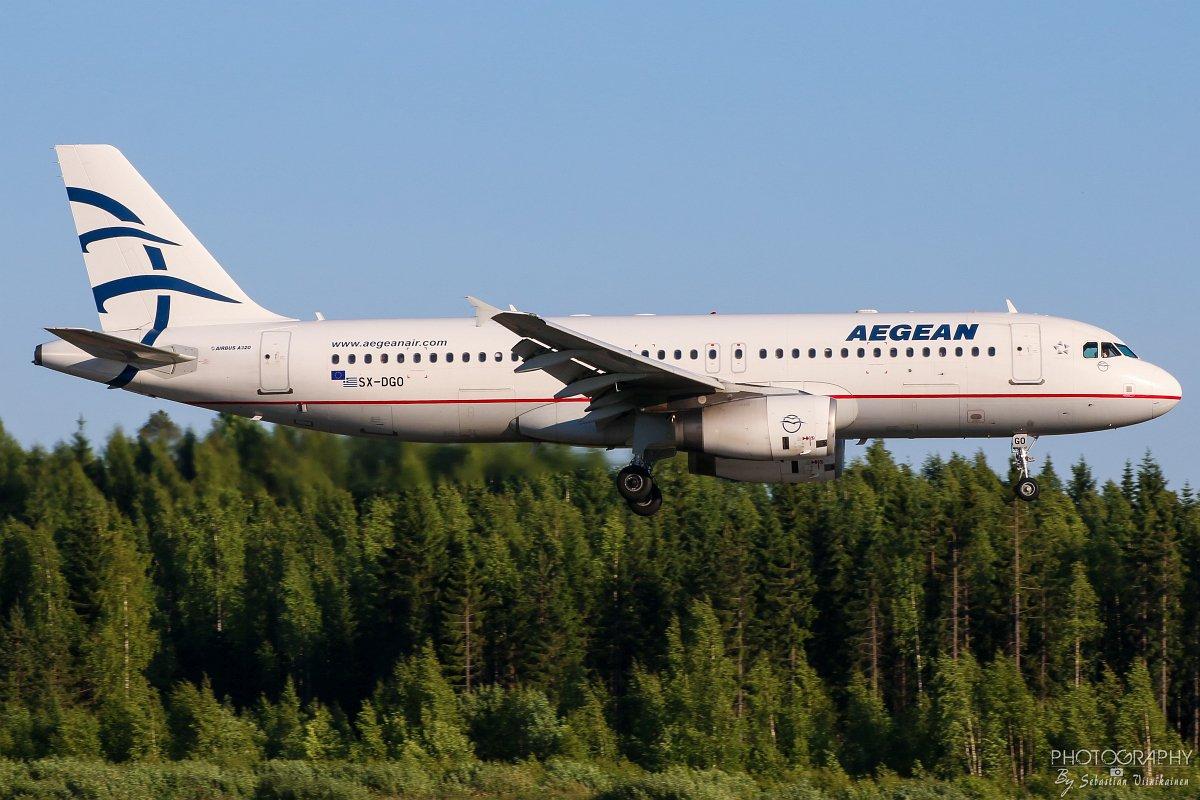 SX-DGO Aegean Airlines A320-200, 02.06.2018