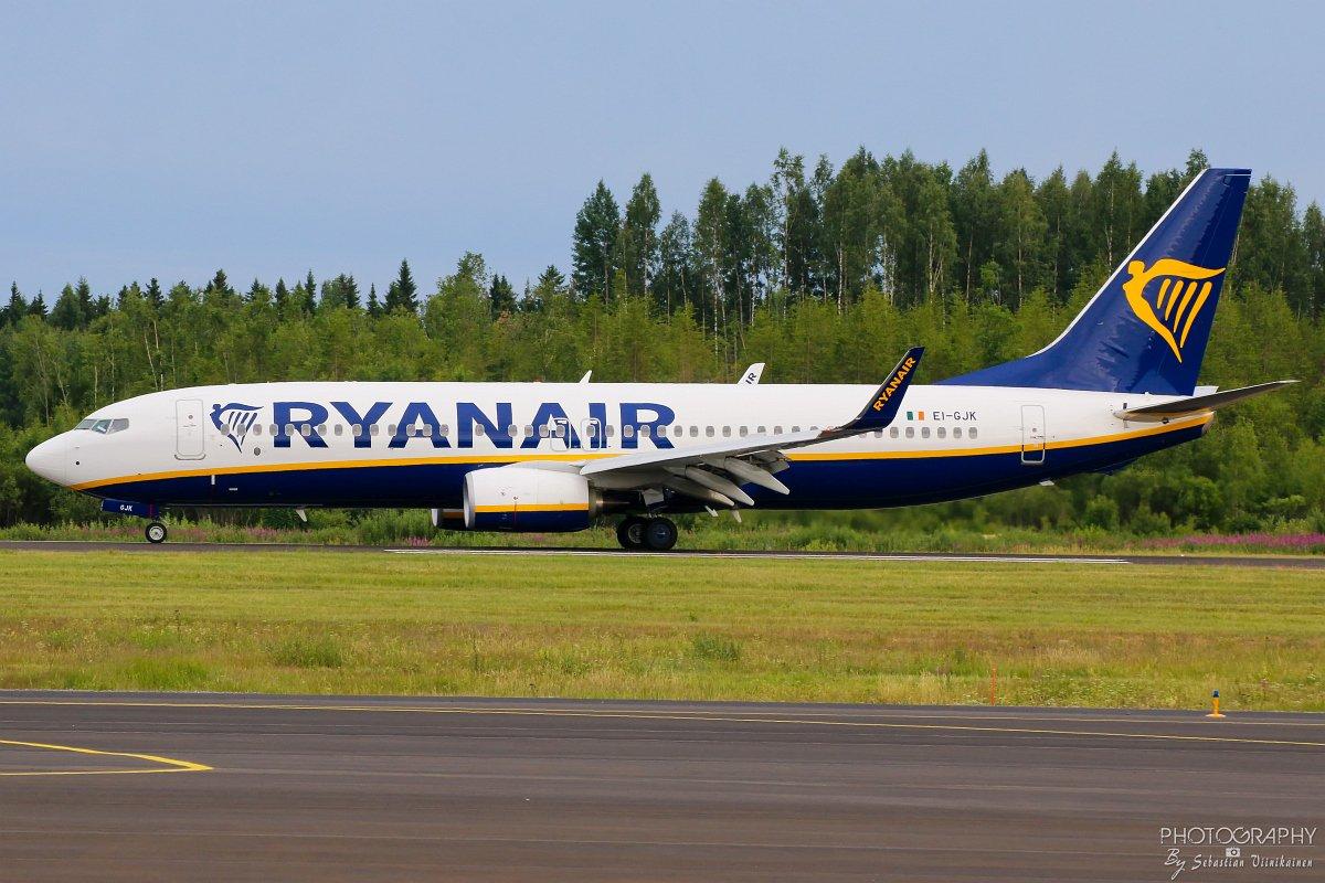 EI-GJK Ryanair B737-800, 24.06.2018