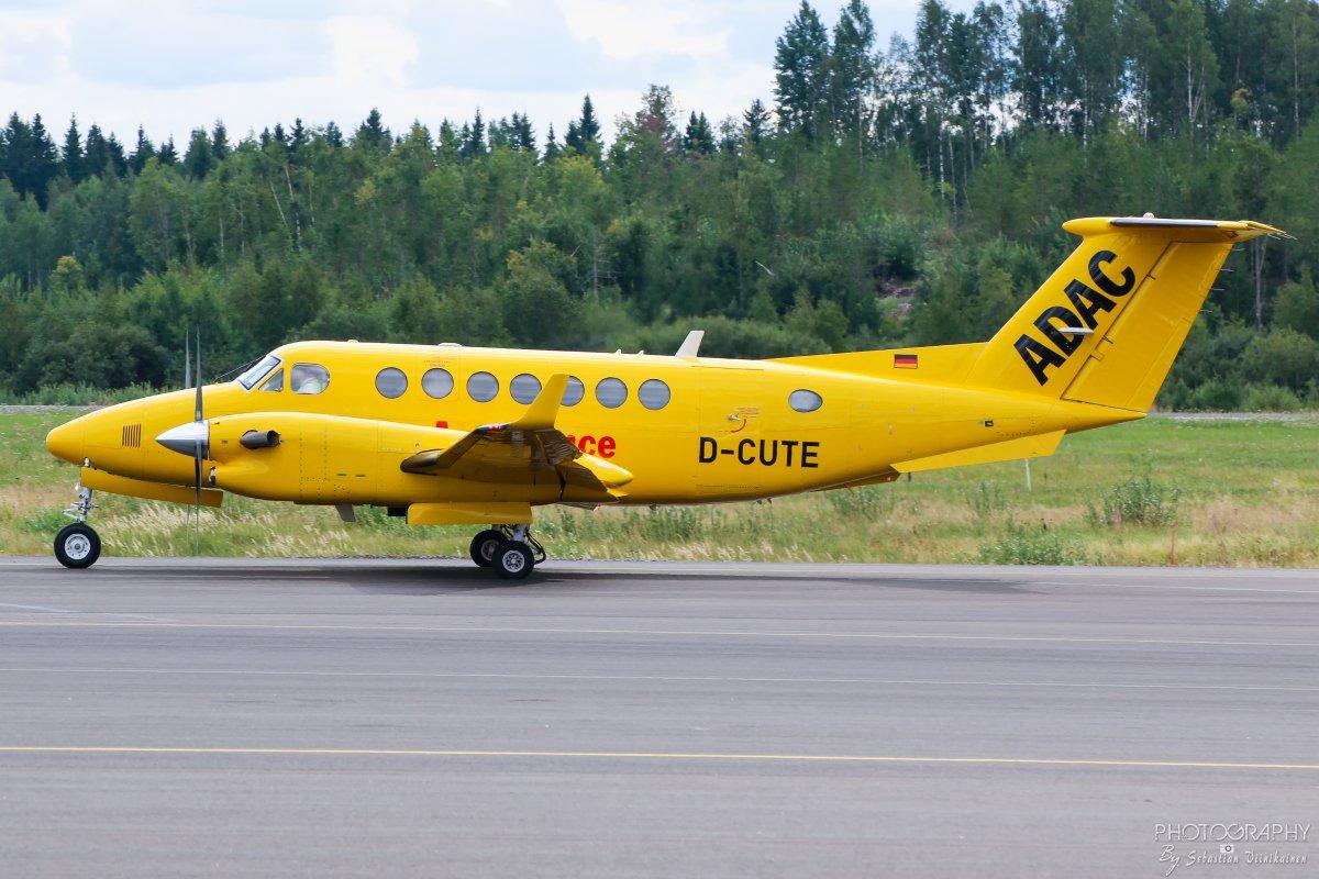 D-CUTE ADAC Luftrettung Beechcraft B300 King Air 350, 14.8.2018